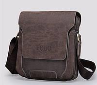 Мужская сумка Polo. Нож кредитка в подарок. Модель 2016 года. Кожаная сумка через плечо. Барсетка.