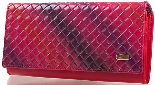 Чудесный  кожаный кошелек  VALENSIY (ВАЛЕНСИ) DSA01318124-dark-red (красный)