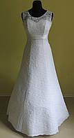 Свадебное платье № 15-04 Батал (размер 52-54, белое)