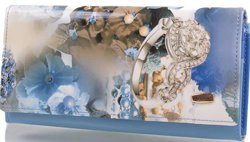 Стильный яркий  женский кошелек  VALENSIY (ВАЛЕНСИ) DSA01318111-blue (голубой)