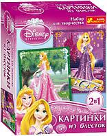 """Картинка из блесток Дисней """"Принцессы Аврора и Рапунцель"""" 13153012Р 2024-01"""