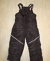 Полукомбинезон зимний (высокие штаны на шлейках) на мальчика, рост 110-116 см