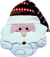 Мягкая новогодняя Подушка Дед Мороз 40* 38см