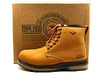 Зимние ботинки Topland, натуральные кожаные, мужские, на меху, фото 1