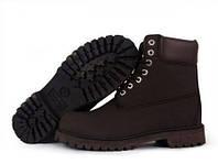 Ботинки мужские Classic Timberland 6 inch Brown Boots Light (тимберленд, оригинал) коричневые