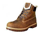 Ботинки мужские Timberland 6 inch Brown Winter China Edition (тимберленд, оригинал) коричневые