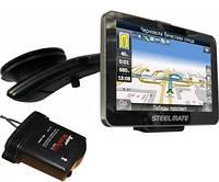 Автомобильный GPS-навигатор STEELMATE All-in-one 881+Radar-detector