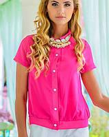 Блузка с коротким рукавом | Шифон лето sk