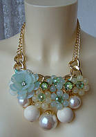 Ожерелье женское колье крупное массивное ювелирная бижутерия 4066