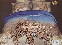 Комплект постельного белья  ELWAY сатин 3D 164