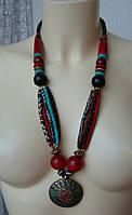 Ожерелье женское колье ручная работа бижутерия 4075