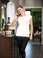Женский домашний костюм футболка с бриджами