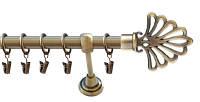 Карниз кованый одинарный, наконечник Модерн, 200см