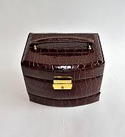 Шкатулка для украшений закругленный сундук (коричневый) 2781