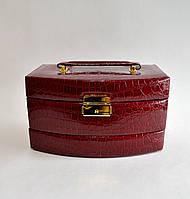 Шкатулка для украшений закругленный сундук большой (темно красный) 431965