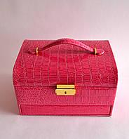Шкатулка для украшений ровный сундук большой (розовый) 18871