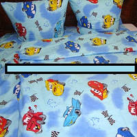 Постельное белье для мальчика  ''Молния Маквин'', голубое