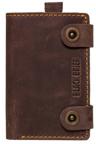 Многофункциональный мужской кожаный чехол-портмоне для телефона iPhone 6 Black Brier П-18-33 коричневый