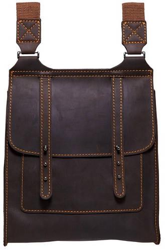 Стильная мужская кожаная сумка Black Brier C-1-33 коричневый