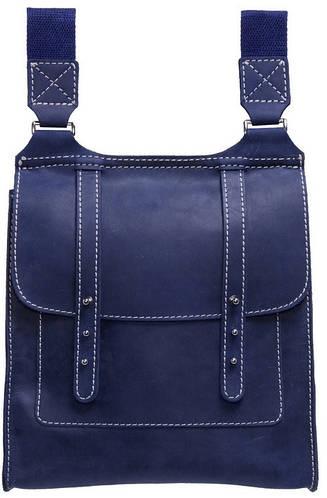 Молодежная кожаная сумка Black Brier C-1-97 темно-синий