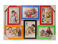 Фоторамка цветная на 6 фото