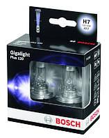Лампочки автомобильные Bosch h7 +120 комплект 2шт