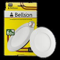 """Светодиодный светильник 6W """"круг"""" Bellson 6000K"""