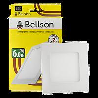 """Светодиодный светильник 6W """"квадрат"""" Bellson 6000K"""