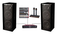 Комплект Sound Division DJ215KAR8FX для караоке клуба, мощность 2000Вт