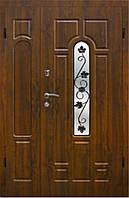 Дверь входная полуторная с ковкой №1 модель 105