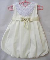 Платье нарядное велюровое для девочки Розочки (1-5 лет)