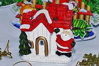 Керамический подсвечник новогодний с Дедом Морозом