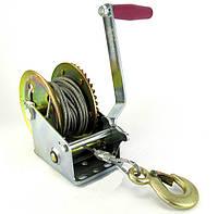Лебедка ручная, барабанная, стационарная, стальной трос, 10 м, 450 кг Torin