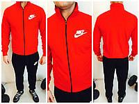 Качественная спортивная  кофта  Nike   в красном цвете утепленная