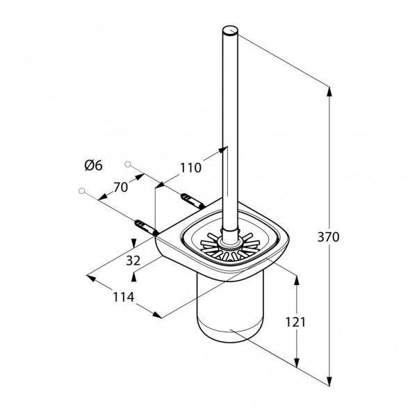 kludi Kludi Ершик для туалета Kludi Ambienta 5397405