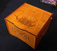 Шкатулка под чайные пакетики с гравировкой