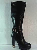 Высокие женские модные сапоги на каблуке.р.36-40.
