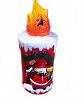 Керамический подсвечник новогодний со Снеговиком