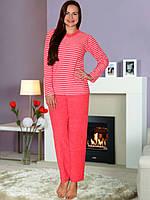 Теплая красная махровая пижама, размер XL