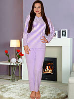 Теплая фиолетовая махровая пижама