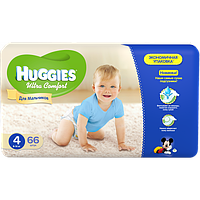 Huggies Ultra Comfort для мальчиков 4 ( 8-14 ) 66 шт!