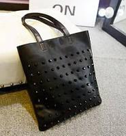 Женская сумка планшет с шипами(заклепками).