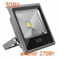 Светодиодные прожектора для уличного освещения led Oasisled 30w slim теплый свет