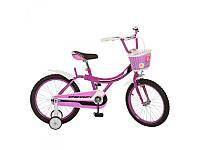 Детский двухколесный велосипед 16 дюймов Profi 16BX406-1, фуксия