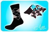 Носки мужские демисезонные черные, светлые, хлопковые.