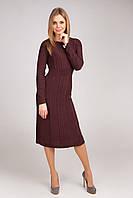 Элегантное платье  с расклешенной юбкой  офисного стиля