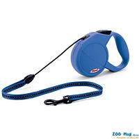 Поводок рулетка для собак Flexi Класик S15м 12кг синяя