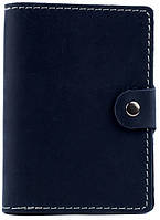 Удобная мужская кожаная обложка для документов с застежкой Black Brier ОП-3-97 темно-синий