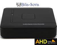 Видеорегистратор TCL-801AHD гибридный, 8 каналов (IP, аналоговые, AHD камеры), Real Time 1080P,Tesla