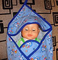 Детский уголок-полотенце для купания
